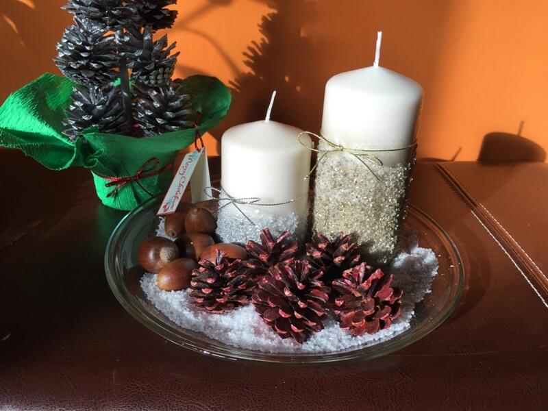 Centros de mesa originales para navidad cosas ninis - Adornos para navidad con pinas ...